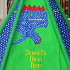 Dinosaur Play Tent w/Personalized Name Plaque Pillow u0026 Accessories  sc 1 st  Mommy Made It For Me & Play Tents | Handmade Childrenu0027s Play Tents by Mommy Made It For Me