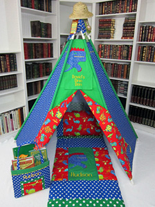 Dinosaur Themed Play Tent & Play Tents | Handmade Childrenu0027s Play Tents by Mommy Made It For Me
