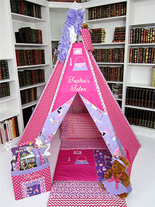 Girly Girl Themed Play Tent & Play Tents | Handmade Childrenu0027s Play Tents by Mommy Made It For Me